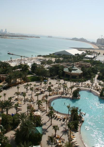 Výhled z 8. patra Atlantisu