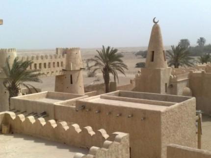 Malá mešita a pohled přes střechy